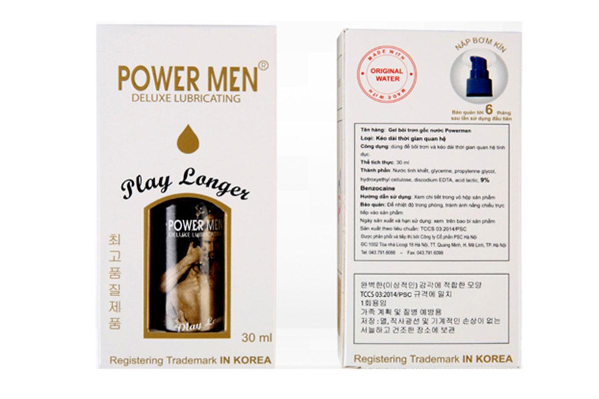 Thuốc xịt Power Men Play Longer kéo dài thời gian